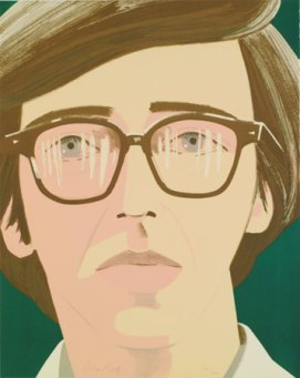Alex Katz, Portrait of a Poet: Kenneth Koch (1970)