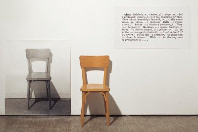 Joseph Kosuth - chair