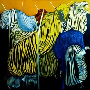 La strage della mia innocenza - 2010 (160 cm x 160 cm)