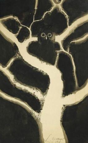 Léon Spilliaert, Le hibou (1918)