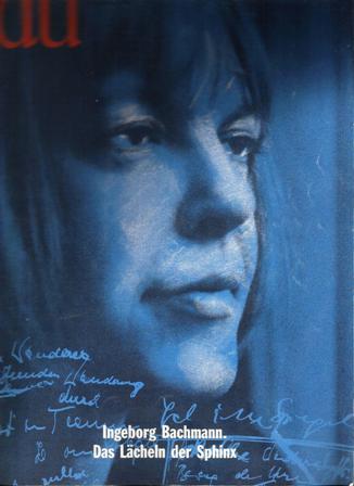 "Ingeborg Bachmann, Das Lächeln der Sphinx. Copertina del n. 9 (settembre 1994) della rivista ""du"""
