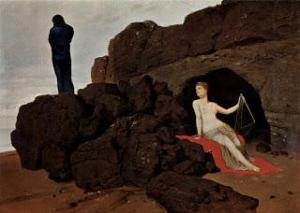 Arnold Böcklin, Ulisse e Calipso (1883)