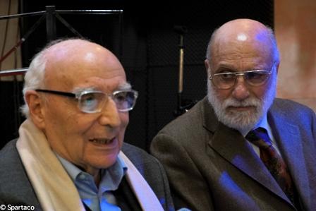 Felice Di Nubila e Augusto Benemeglio al Villaggio Cultura Pentatonic, 15 dicembre 2013: Omaggio a Rocco Scotellaro - Foto di Spartaco Coletta