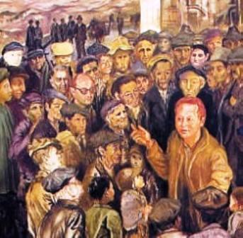 Carlo Levi, Lucania '61 (particolare: Rocco Scotellaro, la vita civica)