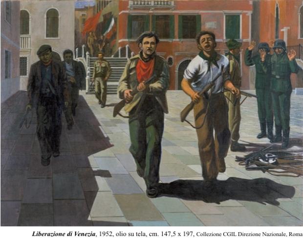 Armando Pizzinato, Liberazione di Venezia, 1952 (Collezione CGIL, Roma)