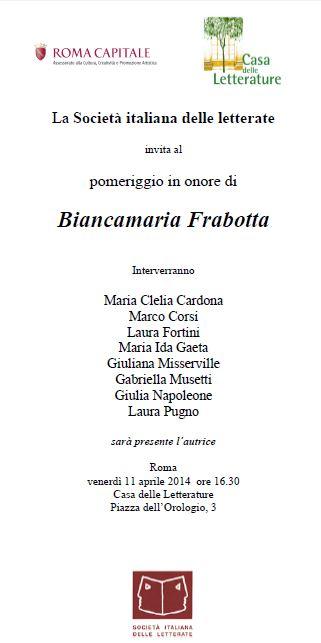 Biancamaria Frabotta