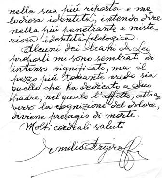 Emilio Argiroffi, da una lettera del 1992