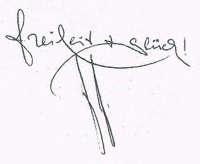 Freiheit + Glück - La firma di Peter-Paul Zahl