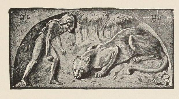 "J.L.Kipling o W.H.Drake, illustrazione per ""L'Ankhus del Re"", 1895"
