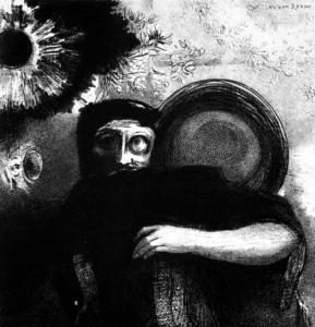 Odilon Redon - Un étrange jongleur (1885); fonte wikiart.org