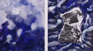 2013 Da Napoli a... 3. Tecnica mista su carta Hehne Mehle, cn. 32x37