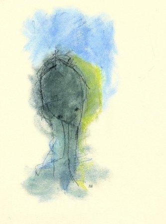 Somigliami - pastelli ad acqua su carta, 70x100 – 2013