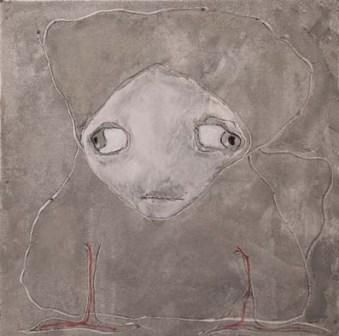 Soul-mate (n.1) - acrilico su tela, 100x100 - 2006