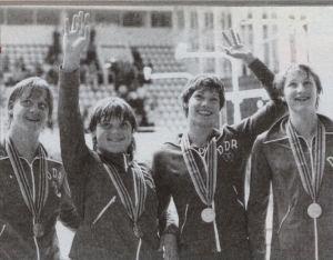 Staffetta femminile della DDR alle Olimpiadi di Mosca del 1980