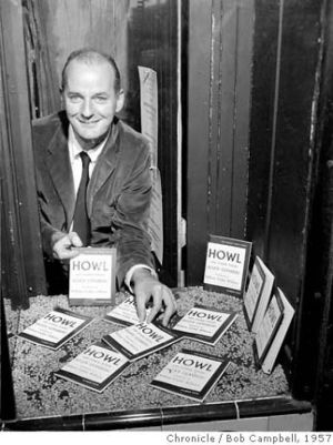 Lawrence Ferlinghetti, during the Howl Magazine case. Photo by Bob Campbell Photo BOB