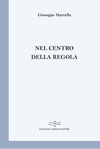 Giuseppe Martella - Nel centro della regola - Copertina