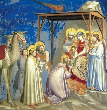 Giotto: Adorazione dei Magi, Cappella degli Scrovegni, Padova
