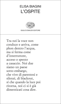 Elisa Biagini, L'ospite (Einaudi, 2014)